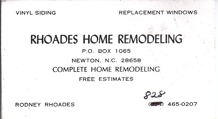 Gordonshop Business Card Gallery - Home remodeling business cards